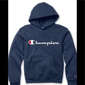 CHAMPION hoodie boys or girls  Blue. Small 7/8